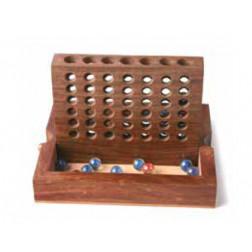 """Juego """"cuatro en raya"""" de madera"""