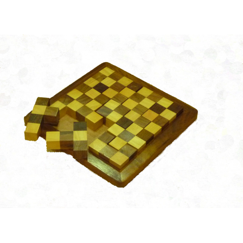 Juego tetris de piezas de madera