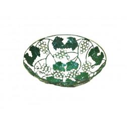 Cesta  metal diseño uva - 28 cm