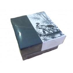 Caja papel dis elefante blanco-negro