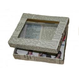 Caja reciclada de papel de periódico 12*10*2.5cm