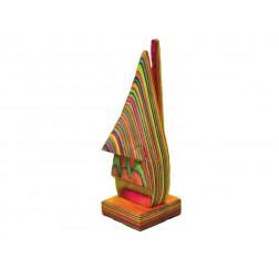Sujetagafas en madera, multicolor, 16*5*5 cm