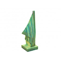 Suejetagafas en madera tonos verdes 16*5*5 cm
