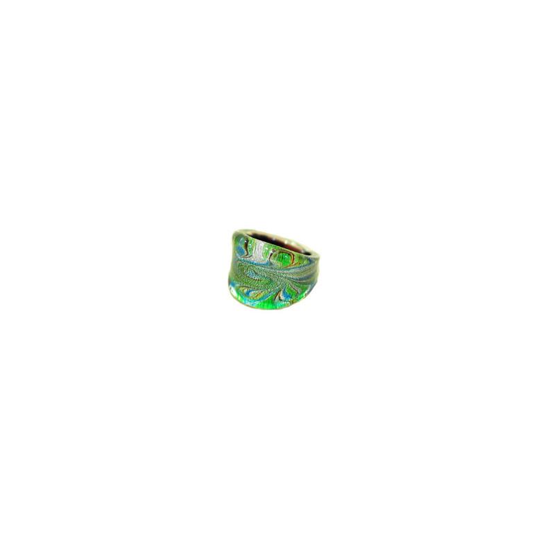 Anillo de cristal, varios colores ancho