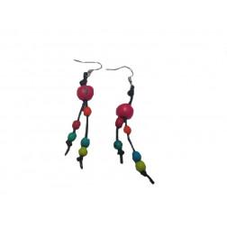Pendientes Acai y Chirilla multicolor, 7 cm