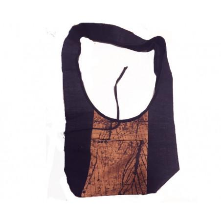Bolsa tela con bolsito corazón color negro