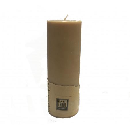 Vela beige cilindro alargado, 5,3*15cm