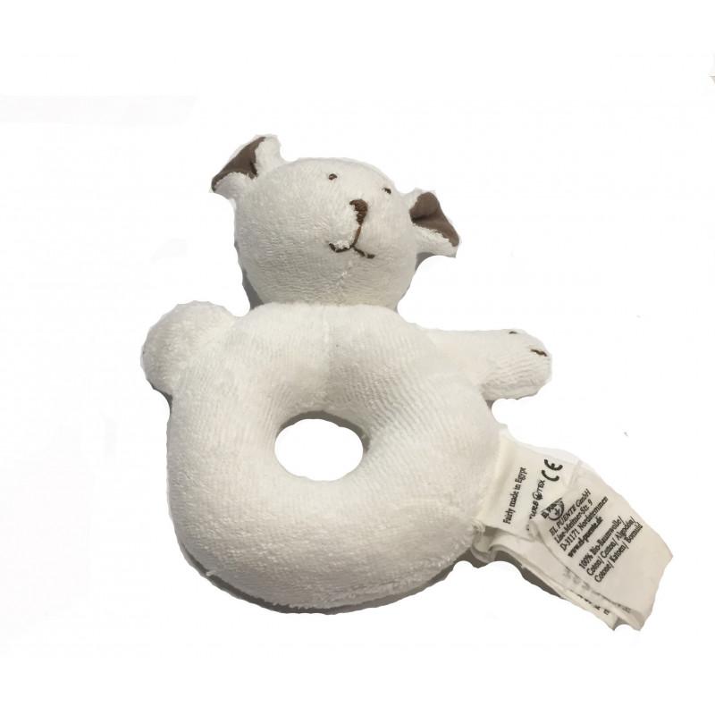 Anillo algodón bebe, forma perro