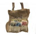 "Bolsa compra ""Yute, not plastic"""