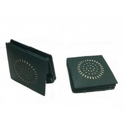 Portamonedas piel verde/azúl, mandala