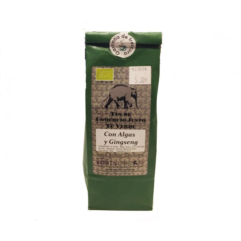 Té verde BIO con algas y ginseng, 100gr
