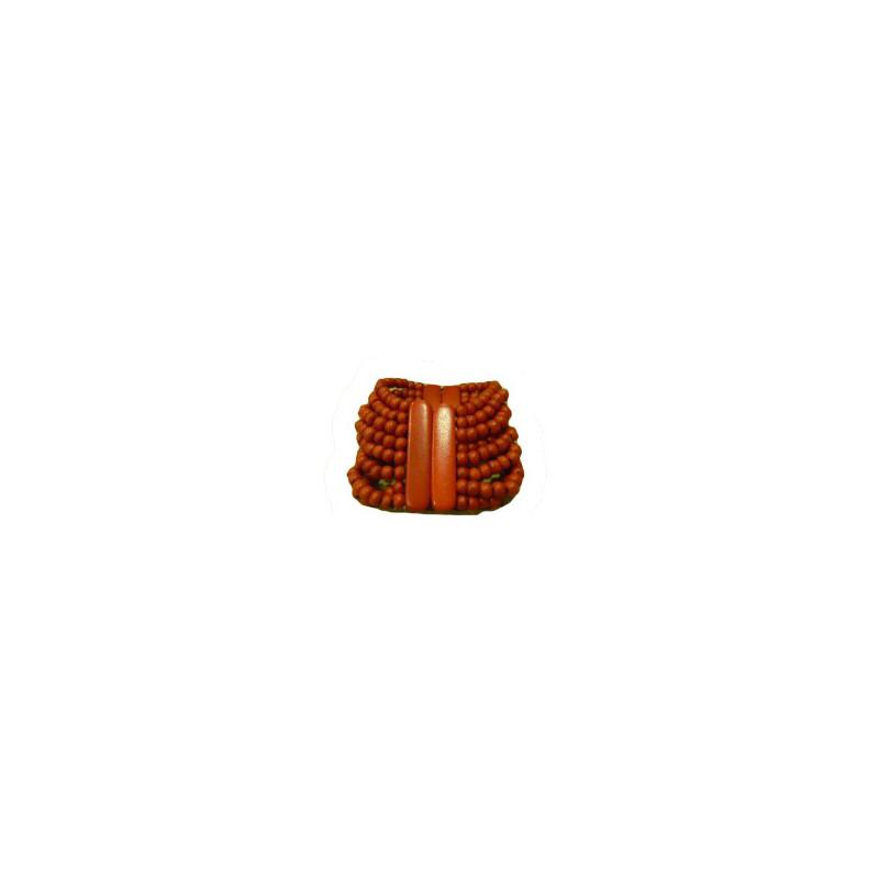 Pulsera cuenta madera roja