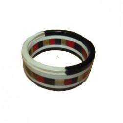 Pulsera de resina roja/negra