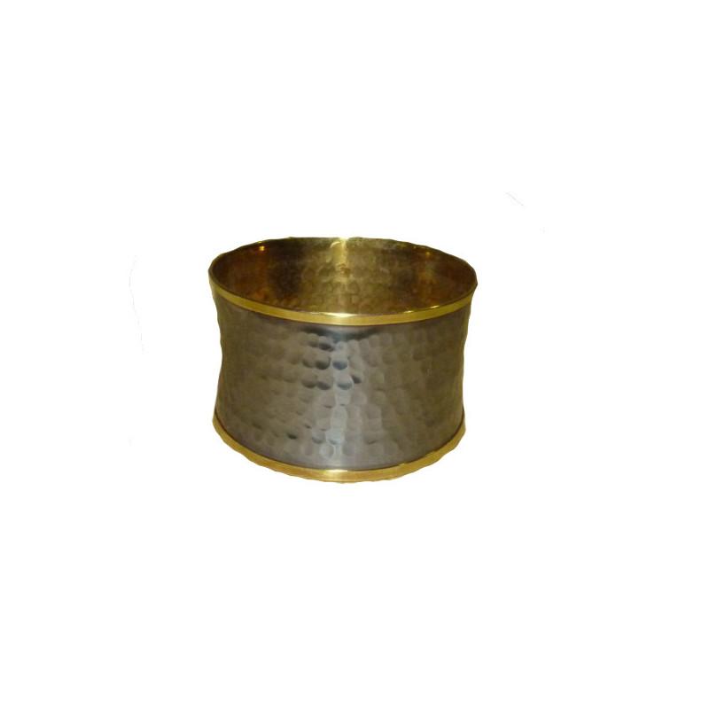 Brazalete de metal dorado con externo antracita
