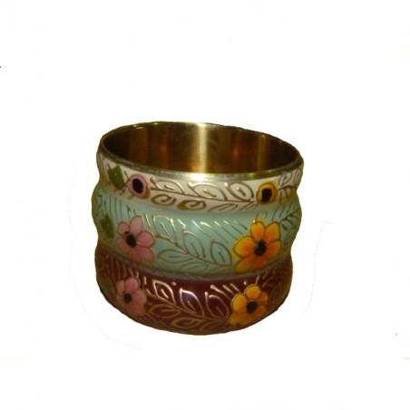 Brazalete metal pintado a mano, 3 colores