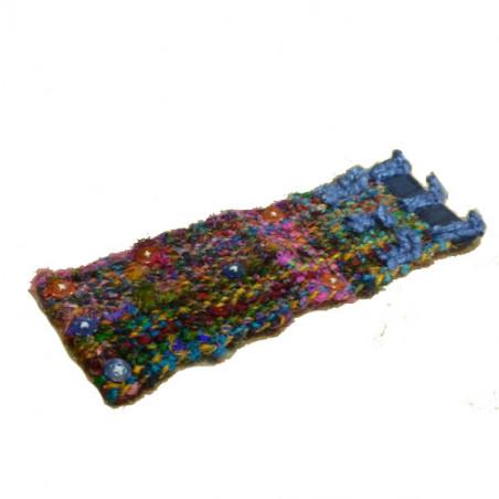 Brazalete de seda reciclada trenzada