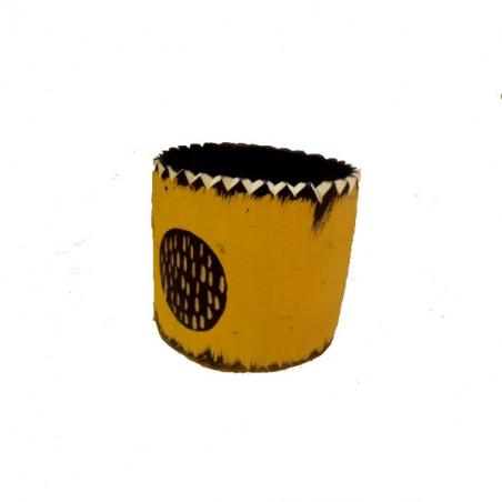 Brazalete madera en amarillo 6 cm