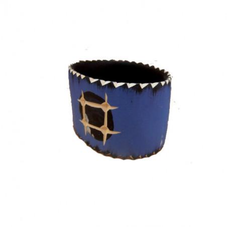 Brazalete madera en azul 6 cm