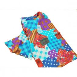 Chal algodón, diseño patchwork