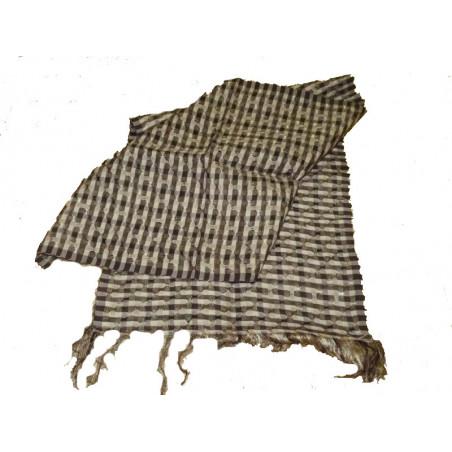 Bufanda de seda, cuadraditos marrones