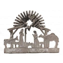 Belen/retablo plateado 9*12cm