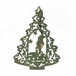 Árbol madera verde 25,5cm