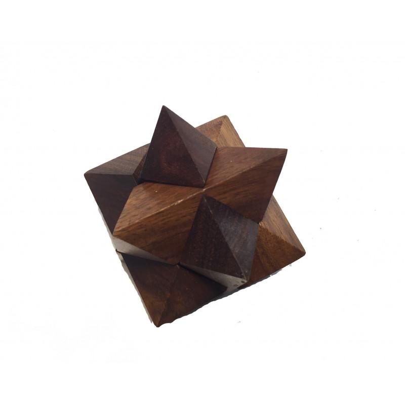 Puzzle de Madera, estrella tridimensional