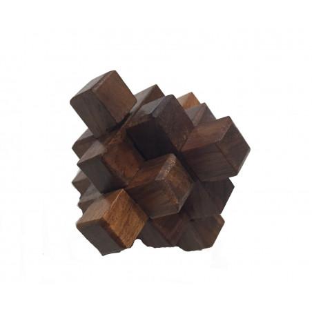 Puzzle cruz 3D madera de sésamo Ø 5cm