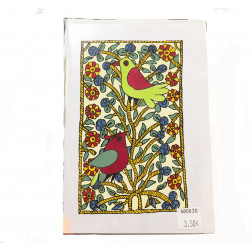 Tarjetón dibujo pájaro