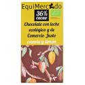 Chocolate de leche con canela y limón - 80g