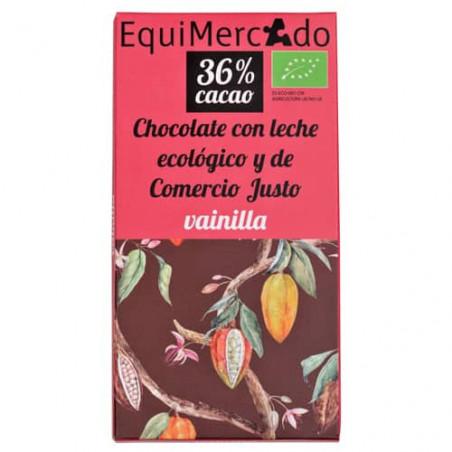Chocolate BIO de leche con vainilla - 80g