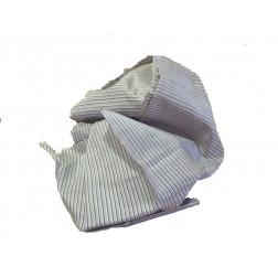 Pañuelo seda salvaje gris