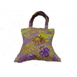 Bolso algodón estampado floral