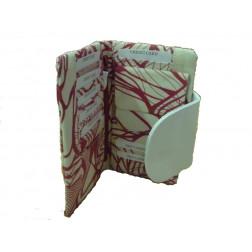 Monedero algodón y cuero, diseño africano