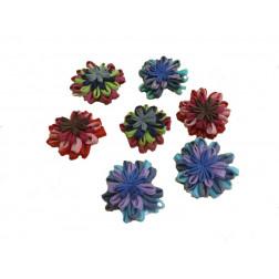 Broche de flores de Organza
