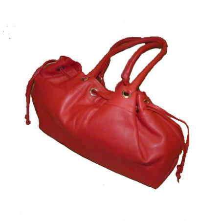 Bolso grande piel roja (42cm)