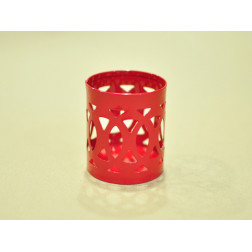 Base para vela, metal color rojo 6*5 cm