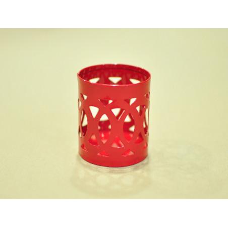 Base para vela, metal color rojo 6*5 cm