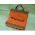 Caja organizadora de yute naranja