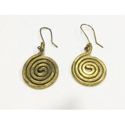 Pendientes espirales doradas