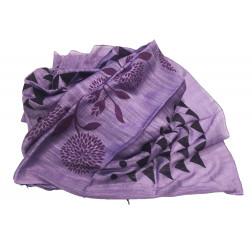 Pañuelo morado flores, 60*180cm
