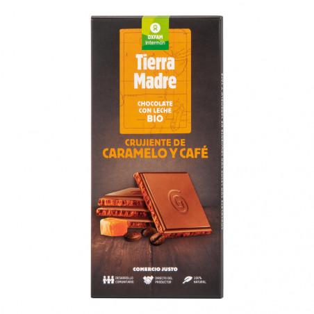 Tableta chocolate con leche, cruj. caramelo y café
