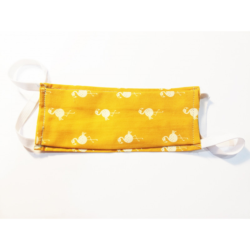 Mascarilla Rectangular Flamencos Amarillo
