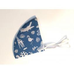Mascarilla Redonda Animales Azul