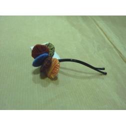 Hebilla pelo flor fantasía multicolor