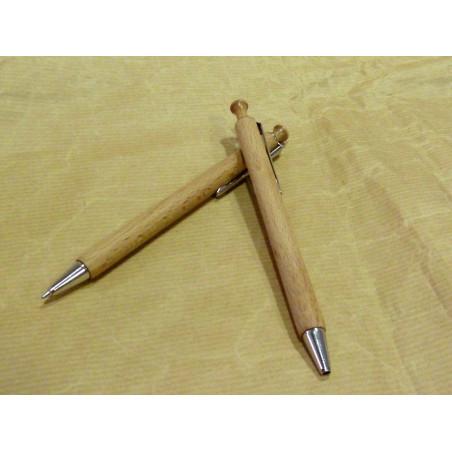 Bolígrafo de madera, click