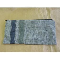 Estuche azul con 2 cintas algodón/papel
