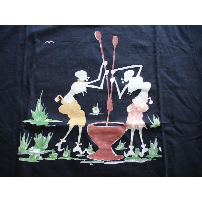 Camiseta diseño Burkina Faso (Azúl Marino, tallas M y L)