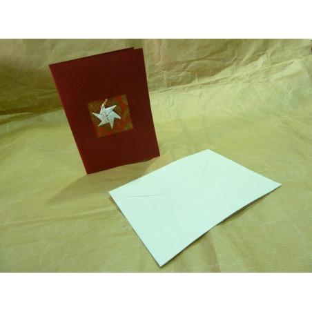 Tarjeta de Navidad, papel artesanal