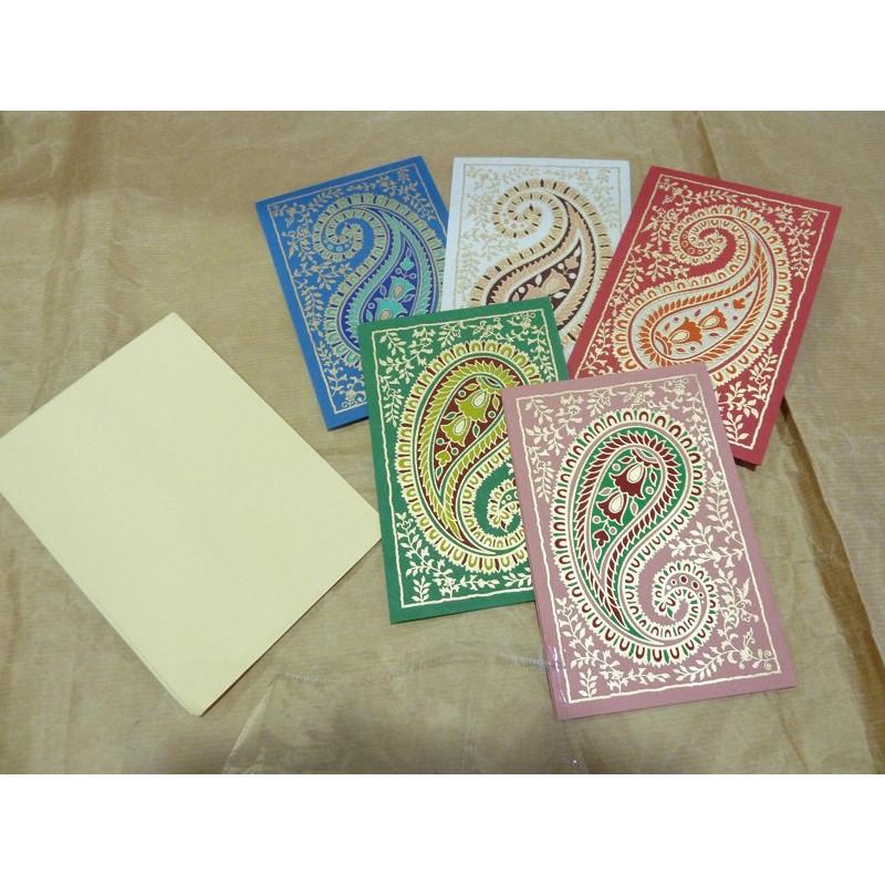 Set de 5 tarjetas de navidad hechas a mano.